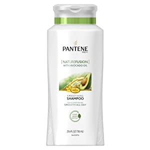 Pantene Pro-V Nature Fusion Smoothing Shampoo with Avocado Oil, 25.4-Fluid Ounce (Pack of 2) (packaging may vary)
