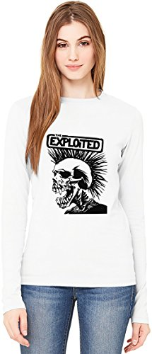 The Exploited Band T-Shirt da Donna a Maniche Lunghe Long-Sleeve T-shirt For Women| 100% Premium Cotton Ultimate Comfort Small