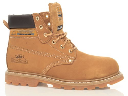 new-mens-groundwork-lace-up-steel-toe-safety-ankle-boots-size-uk-7-8-9-10-11-honey-uk-size-10