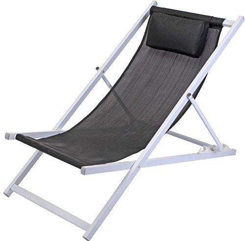 Metall-Liegestuhl-mit-Kopfkissen-schwarz-stabile-Strandliege-3-fach-hhenverstellbar