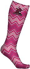 Colorado Mesa University Mavericks Socks Chevron Pink Design pair