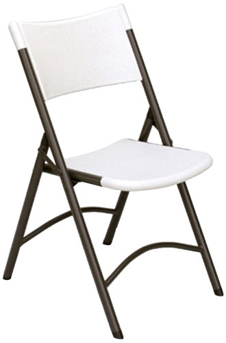 Correll RC400 CP Series Blow Molded Plastic Light Weight Economy Folding Chair, Gray Granite (Pack of 4)
