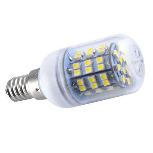 Thg 4Pcs E14 360 Degree 60 Smd 3528 Led 450Lm Warm White Ultra Bright Corn Light Lamp Bulb 3000-3500K Equivalent Halogen 50W