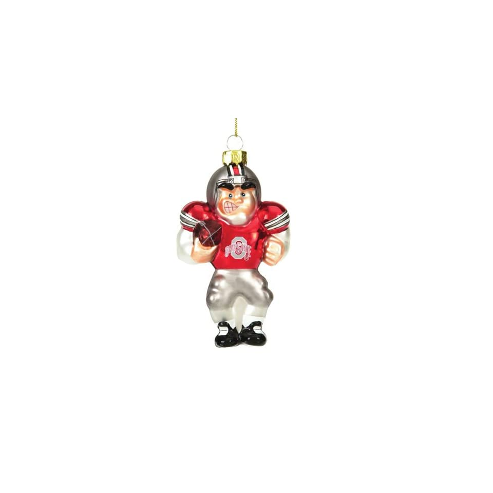 Ohio State Buckeyes NCAA Glass Player Ornament (4 Caucasian inch)