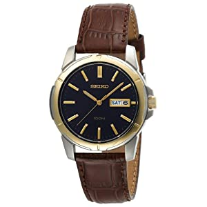Click to buy Seiko Watches for Men: SGGA08 Brown Leather Watch from Amazon!