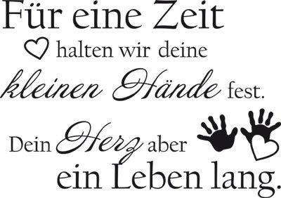 Wandtattoo Aufkleber Tattoo für Kinderzimmer Spruch Für eine Zeit halten wir (81x57cm//070 schwarz)