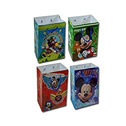 12-Pack Disney Mickey Mouse Small Party Gift Bags
