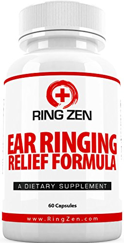 RingZen Natural Tinnitus Relief Supplement, Effective Ear Ringing Help And Support, Stop The Ringing In Ears Formula (60 Capsules)