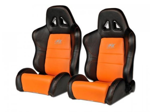 FK-Automotive-Sige-Sport-Set-Dallas-1xgauche1xdroit-orangeNoir-Couture