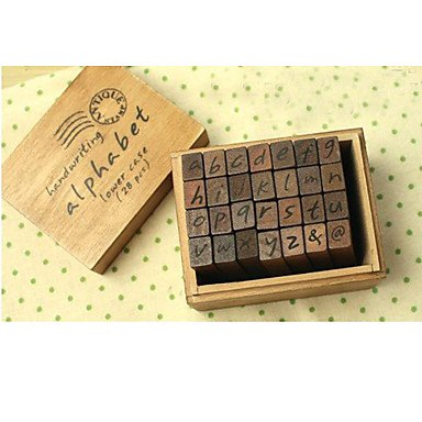 Zcl Alphabet And Letters Seal Uppercase And Lowercase Wooden Stamps Set
