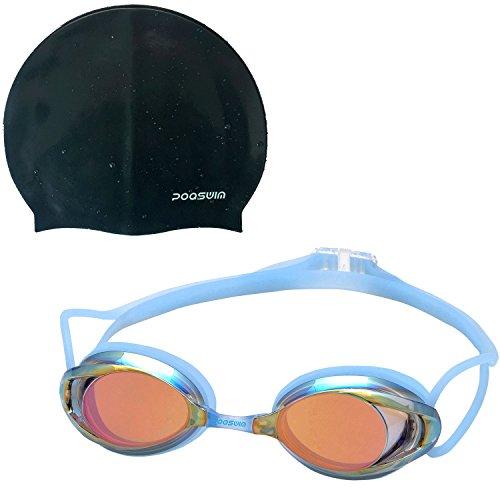 poqswim verspiegelte und Clear Lens Schwimmbrille Vanquisher 2.0