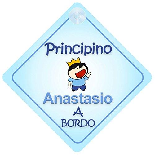 Principino Anastasio / adesivo bimbo / bambino / neonato a bordo per maschi principe / principino adesivo macchina