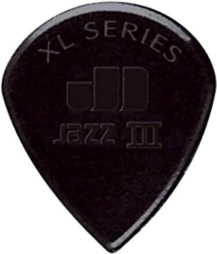 Dunlop 47PXLS Nylon Jazz III XL Black Stiffo Guitar Picks 6-