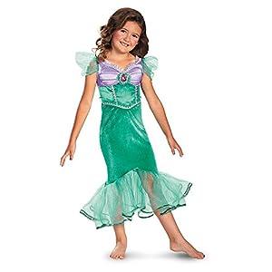 Disguise Disney The Little Mermaid Ariel Sparkle Classic Girls Costume, 3T-4T