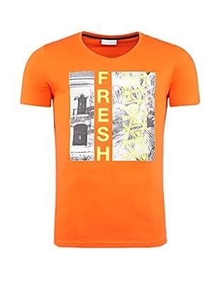 SUMMERFRESH Camiseta Manga Corta Paradise (Naranja)