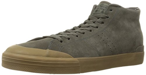 C1RCA Men's Fremont Mid Skateboarding Shoe, Charcoal/Gum, 10 M US