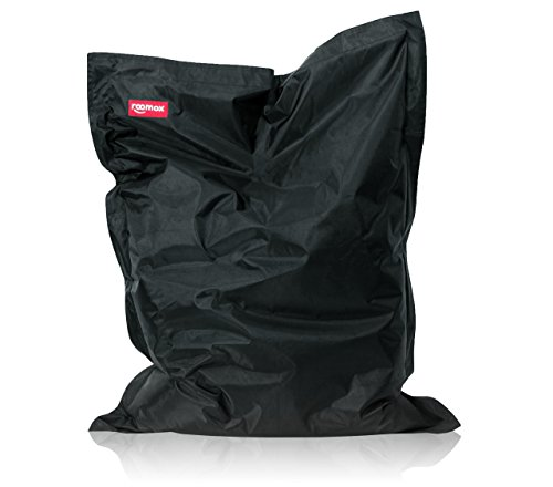 Original XXL Sitzsack für drinnen und draußen Stoff 160 x 120 x 30 cm, schwarz