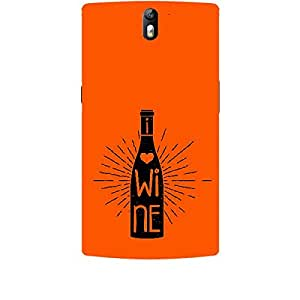 Skin4gadgets Awesome Wine & Dine Quotes, Pattern 20, Color - Wine Phone Skin for ONE PLUS ONE