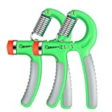 2 Pack Hand Grip Strengthener Adjustable Resistance 22 To 88 Lbs Strength Trainer Exerciser Gripper