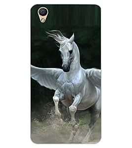 ColourCraft Flying Horse Design Back Case Cover for OPPO R9