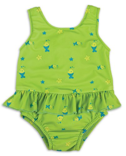 Bambino Mio Swimsuit Nappy Diaper, Lime Fish, Medium back-412869