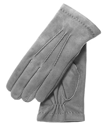Fratelli Orsini Men's Italian Silk Lined Suede Formal and Dress Leather Gloves Size 7 Color Grey
