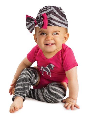 Rubie's Costume Newborn Zebra Bodysuit, Pink/Black/White, 6-9 Months Costume