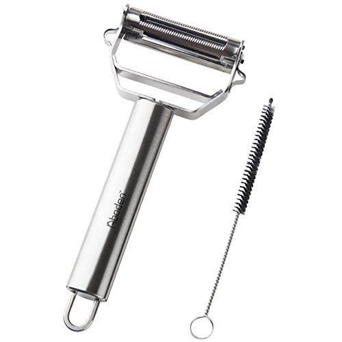Aboden Y Shape Dual Action Stainless Steel Vegetable Peeler & Julienne Slicer with Cleaning Brush (Salad Bar Tupperware compare prices)