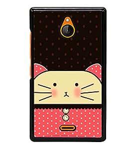 Cute Cat 2D Hard Polycarbonate Designer Back Case Cover for Nokia X2 Dual SIM :: Nokia X2 RM-1013 :: Nokia X2DS