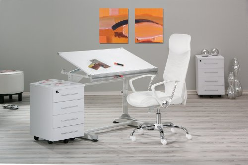 chaisedebureau links 99803180 fiori chaise de bureau avec accoudoir blanc 62 x 66 x 125 cm. Black Bedroom Furniture Sets. Home Design Ideas
