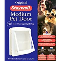 Staywell Original Pet Door Medium (White) for Cats and Dogs (740EFS)