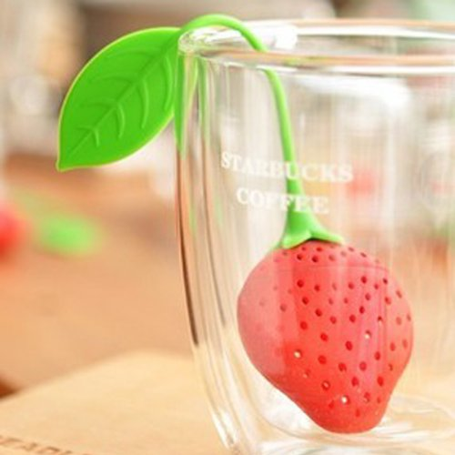 Cute Strawberry Style Tea Strainers Filter