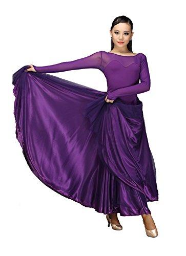 [M9103 StarDance Women's Ballroom Smooth Showcase Practise Dance Costume Dress (XXL(US size 8),] (Dancesport Standard Costume)