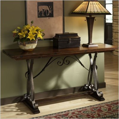 Cheap Hammary T1030289-00 Mountain Lodge Flip Top Console Table in Whiskey Finish (T1030289-00)