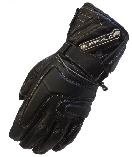 Buffalo Arctic Leather Winter Waterproof Motorcycle Gloves Large
