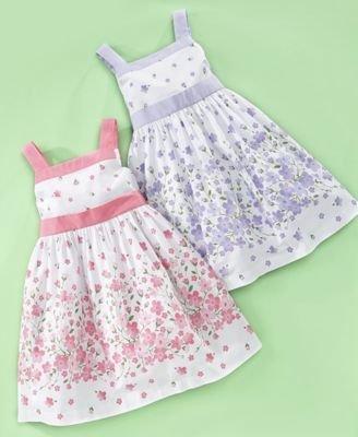 Charter Club Little Girl Poplin Border Dress