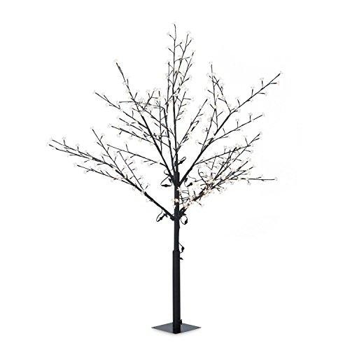 Blumfeldt Hanami WW 180 albero luminoso decorativo lampada fiori di ciliegio (336 LED, forma variabile a piacere grazie ai rami pieghevoli, altezza 180 cm) - bianco