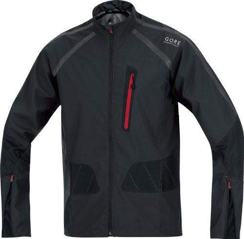 Gore X-Running Running Wear Men's Jacket Active Shell - Black, XL