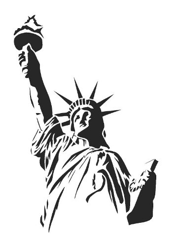 la-estatua-de-la-libertad-aerografo-diseno-con-letra-de-cancion-pintura-para-plantilla-para-estarcir