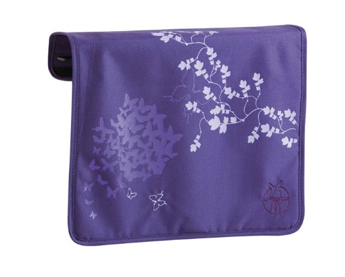 Lassig Front Cover For Messenger Bag, Butterfly Dark Purple