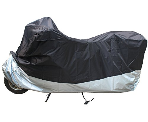 LotFancy All Weather Waterproof 89 Inches Motorcycle Bike Polyester Cover (Taffeta 190T) (Motorcycle Cover All Weather compare prices)