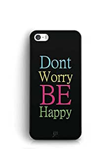 YuBingo Don't Worry, Be Happy Mobile Case Back Cover for Apple iPhone 5
