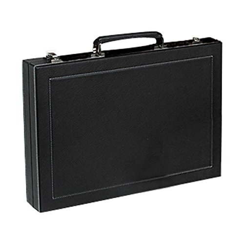 Large Black Calfskin Backgammon Set