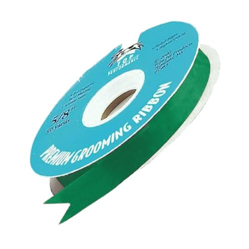 Top Performance Satin Acetate Durable Grooming Pet Ribbon, 100-Yards, Emerald