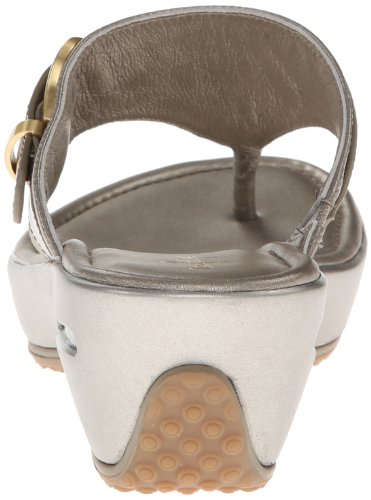 Cole Haan Women's Maddy Tant Thong Wedge Sandal,Pewter,8.5 B US