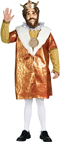 Morris Costumes Men's Burger King Deluxe Costume, One Size
