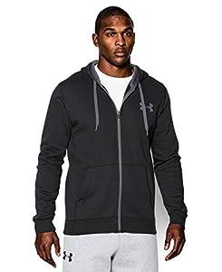 Under Armour Men's UA Rival Fleece Zip Hoodie Medium Black
