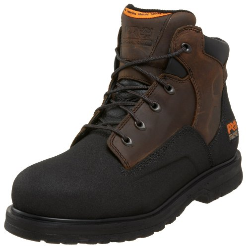 "Timberland Pro Men'S Powerwelt 6"" Steel Toe Workboot,Brown/Brown,9 W"