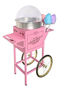 "Nostalgia Electrics CCM600 50"" Tall Vintage Collection Commercial Cotton Candy Cart"