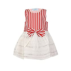 Pikaboo Smart Stripes Dress - Red and White